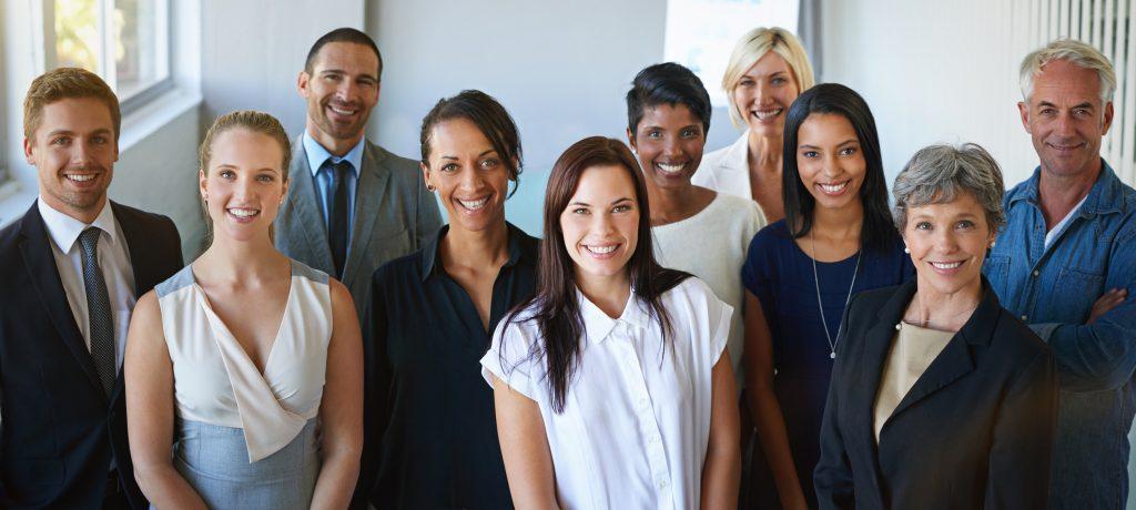 Portrait of a diverse group